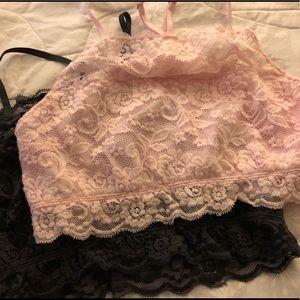 ✌🏻2 Lace Bralettes Grey/Pink SzXL